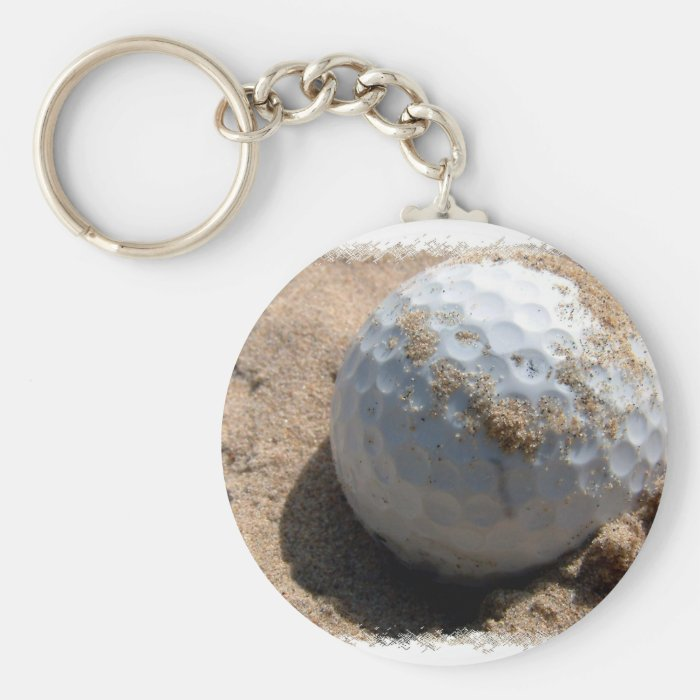 Golf Sand Pit Design Keychain