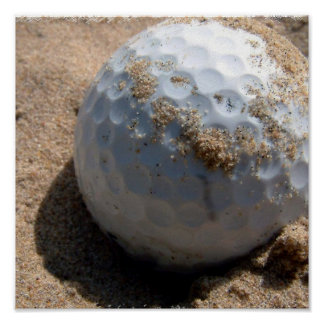Golf Sand Trap Print
