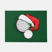 Golf Santa Cap for Christmas Doormat