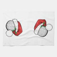 Golf Santa Cap Kitchen Towel