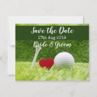 Golf Save the date for Wedding Day Announcement