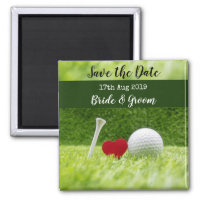 Golf Save the date for wedding invitation Magnet