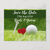 Golf Save the date for wedding invitation Postcard
