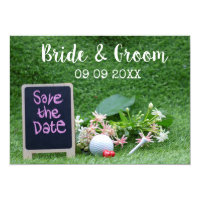 Golf Save the date for wedding with golf ball Invitation