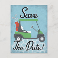 Golf Save The Date - Golf Party Golfing Event Announcement Postcard