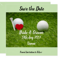 Golf save the date Magnetic Invitation