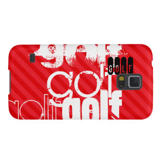 Golf; Scarlet Red Stripes Galaxy S5 Cover