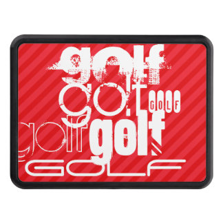Golf; Scarlet Red Stripes Trailer Hitch Cover