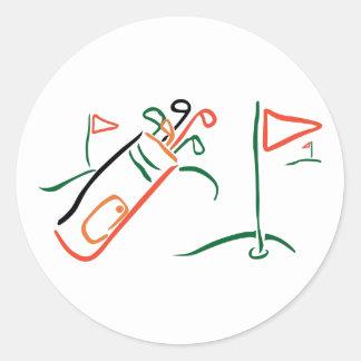Golf Scene Classic Round Sticker