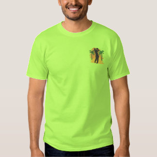 Golf Scene Embroidered T-Shirt
