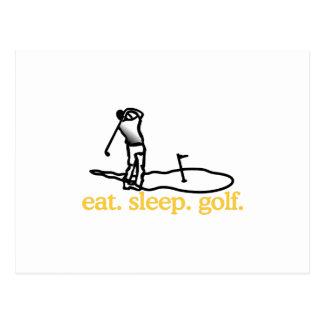 Golf Scene Postcard