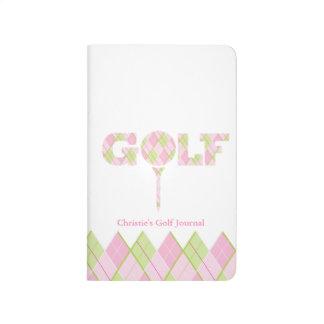 Golf score girls pink record journal