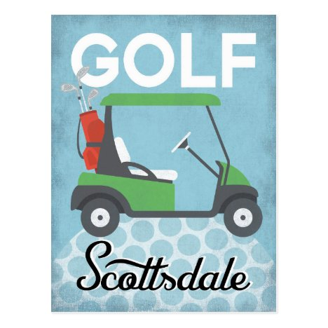 Golf Scottsdale Arizona - Retro Vintage Travel Postcard