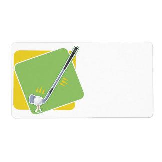 Golf Shipping Label