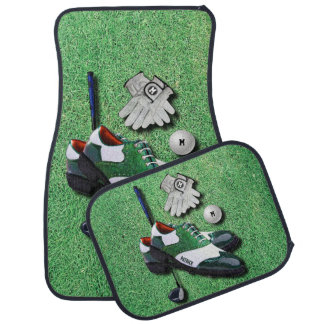 Golf Shoes Ball Gloves Club Driver With Your Name Car Floor Mat