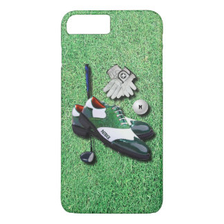 Golf Shoes Ball Gloves Club Driver With Your Name iPhone 8 Plus/7 Plus Case