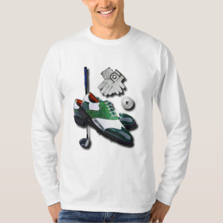 Golf Shoes Ball Gloves Club Driver With Your Name T-Shirt