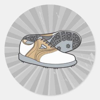 golf shoes round sticker