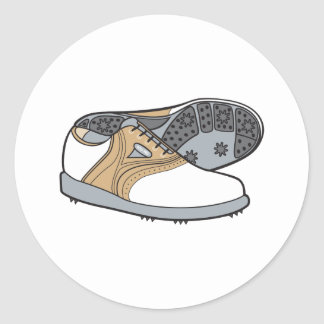 golf shoes sticker