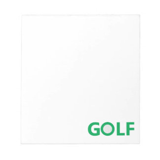 Golf sign notepad