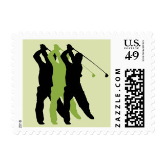 Golf Silhouette Postage