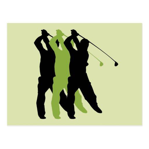 Golf Silhouette Postcard