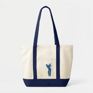 Golf Silhouette Tote Bags