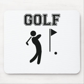 golf simple black design mouse pad