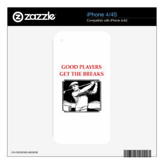 golf skins para iPhone 4S