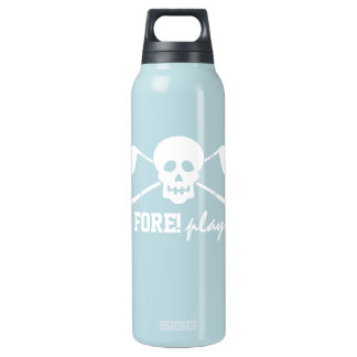 Golf Skull Bad Boys - Fore! Play - Golf Flask Insulated Water Bottle