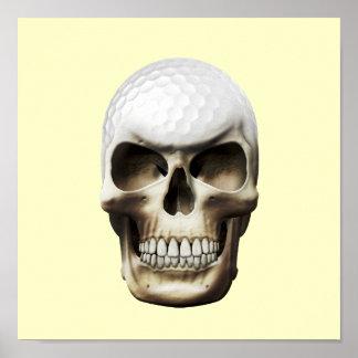 Golf Skull Print