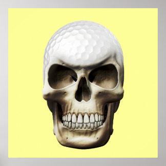 Golf Skull Posters
