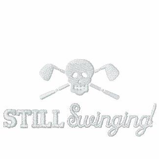 Golf Skull - Still Swinging - League Jacket embroideredshirt