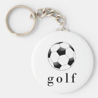 Golf Soccer Ball Funny Sports T-Shirt Keychain