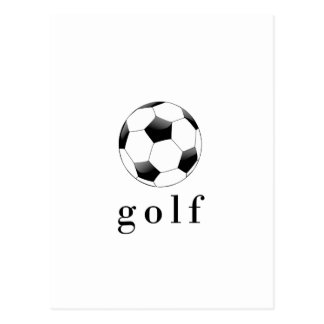 Golf Soccer Ball Funny Sports T-Shirt Postcard