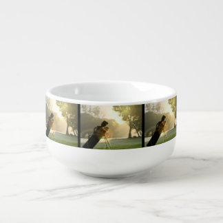 Golf Soup Bowl With Handle