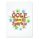 Golf Sparkles 5.5x7.5 Paper Invitation Card