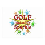 Golf Sparkles Postcard