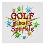 Golf Sparkles Posters