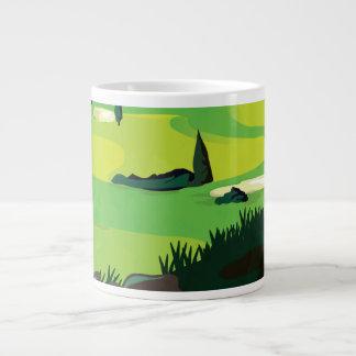 Golf 20 Oz Large Ceramic Coffee Mug