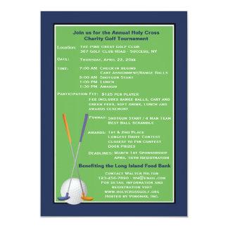 """Golf Spirit Charity Tournament Invitation 5"""" X 7"""" Invitation Card"""