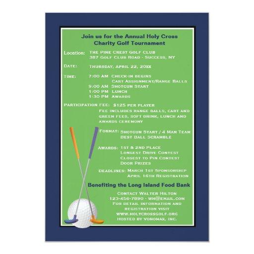 Invitation Golf Tournament for great invitations example