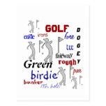 Golf, Sport, Motivational Postcard