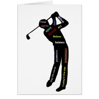 Golf, Sport, Motivational Words Card