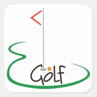 Golf Square Sticker