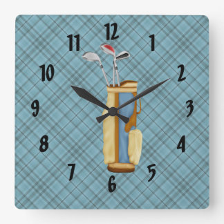 Golf Square Wall Clock