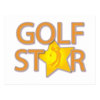 Golf Star Postcard