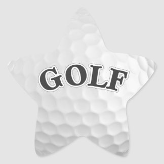 Golf Star Sticker