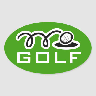 Golf stickers | customizable text and background