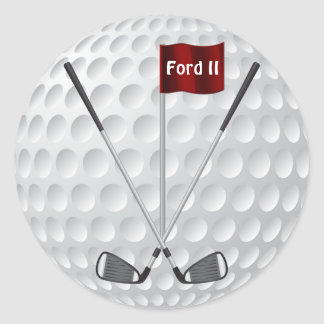 Golf Stickers with Golf Irons, Flag and YOUR TEXT